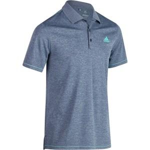 ADIDAS Golf Poloshirt Climacool Kurzarm Herren blau meliert, Größe: S