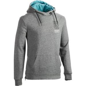 DOMYOS Kapuzensweatshirt 900 Gymnastik Herren Reißverschlüsse grau meliert, Größe: S
