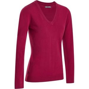 INESIS Pullover V-Ausschnitt First´In Golf Pulli Damen himbeerrot, Größe: S