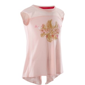 DOMYOS Dance-Shirt Kurzarm Kinder blassrosa, Größe: 6 J. - Gr. 116