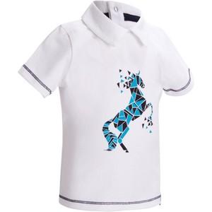 FOUGANZA Reit-Poloshirt kurzarm 100 Baby weiß, Größe: 2 J. - Gr. 86