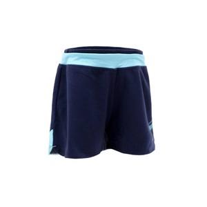 DOMYOS Sporthose kurz 500 Gym Mädchen Print blau, Größe: 8 J. - Gr. 128