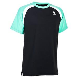 ARTENGO T-Shirt 500 Jungen schwarz/grün, Größe: 10 J. - Gr. 140
