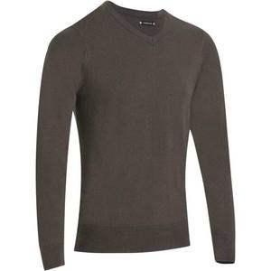 INESIS Pullover V-Ausschnitt First´In Golf Pulli Herren grau, Größe: S