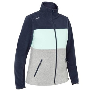 TRIBORD Fleecejacke Segeln Race Damen marineblau/grau/grün, Größe: EU 46 DE 44