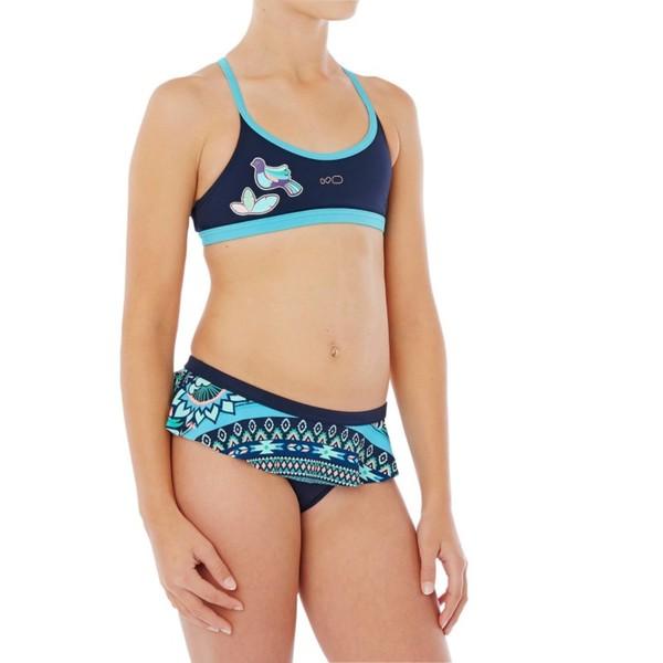 NABAIJI Bikini-Set Riana Skirt Flo Mädchen blau, Größe: 14 J. - Gr. 164