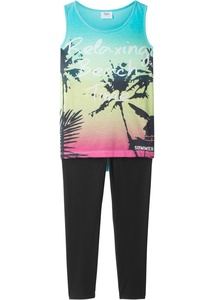 Top (mit Fotodruck) + 3/4-Leggings (2-tlg.)
