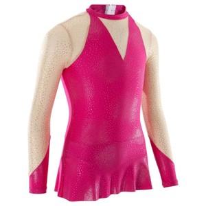DOMYOS Gymnastikanzug Turnanzug RSG 520 langarm rosa, Größe: 6 J. - Gr. 116