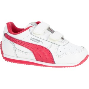 PUMA Turnschuhe S Kinder weiß/rosa, Größe: 27