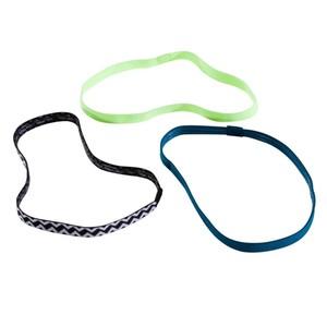 DOMYOS Haarband Fitness 3 Stk. Damen grün/blau/schwarz, Größe: Einheitsgröße
