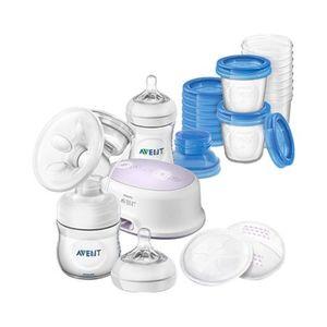 PHILIPS AVENT   Still-Set mit elektrischer Brustpumpe, SCD223/00, inkl. Naturnah-Flasche, Aufbewahrungsbechern und Stilleinlagen