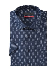 Seidensticker - Businesshemd, kurzarm, gemustert