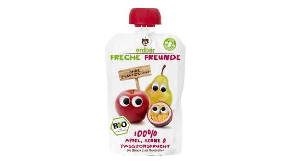 Freche Freunde Bio Quetschie Apfel, Birne & Passionsfrucht