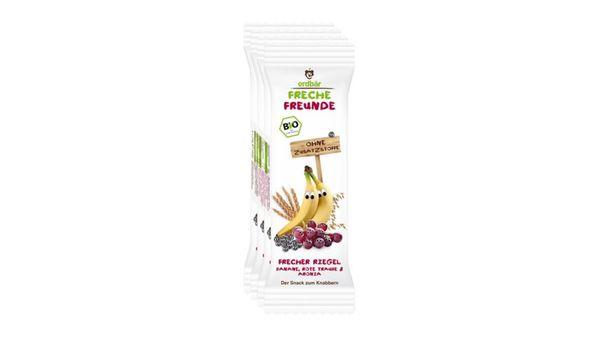 Freche Freunde Bio Getreideriegel Rote Traube, Aronia & Banane 4er-Pack
