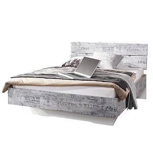 Bett Sumatra - 120 x 200cm - Vintage Grau / Weiß, Rauch Select