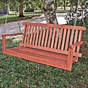 Hängebank Wardow - Eukalyptus massiv - Braun, Garden Pleasure