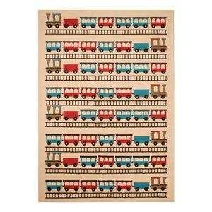 Kinderteppich Bambini II - Kunstfaser - Beige / Rot, Zala Living