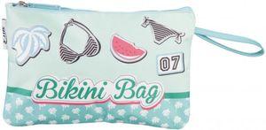 Bikini-Tasche - aus Nylon - 30 x 19 x 1 cm - grün