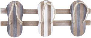 Hakenleiste - aus Holz - 37 x 2 x 20 cm