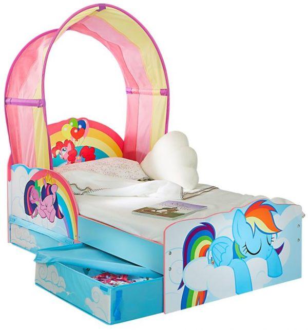 My Little Pony - Kinderbett mit Regenbogen-Dach - ca. 70 x 140 cm