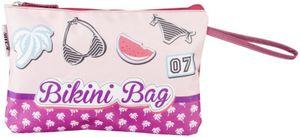 Bikini-Tasche - aus Nylon - 30 x 19 x 1 cm - rosa