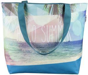 Strandtasche - Hello Summer - aus Textil - 59 x 40 x 20 cm