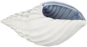 Pflanzgefäß - Muschel - aus Keramik - 24 x 10,5 x 9 cm