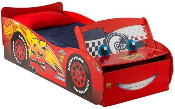 Kinderbett junge cars  Cars - Kinderbett im Auto-Design mit Licht - ca. 70 x 140 cm von ...