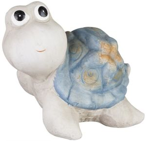Deko-Schildkröte - aus Terrakotta - 13,5 x 11 x 10,5 cm