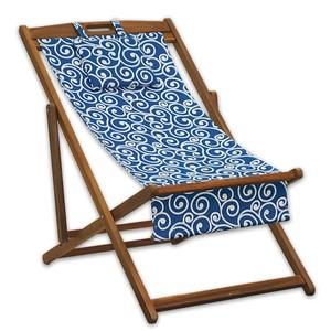 Strandliege Akazie mit Textilbezug