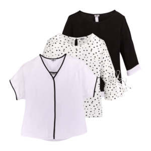 UP2FASHION  	   Sommer Bluse Black & White