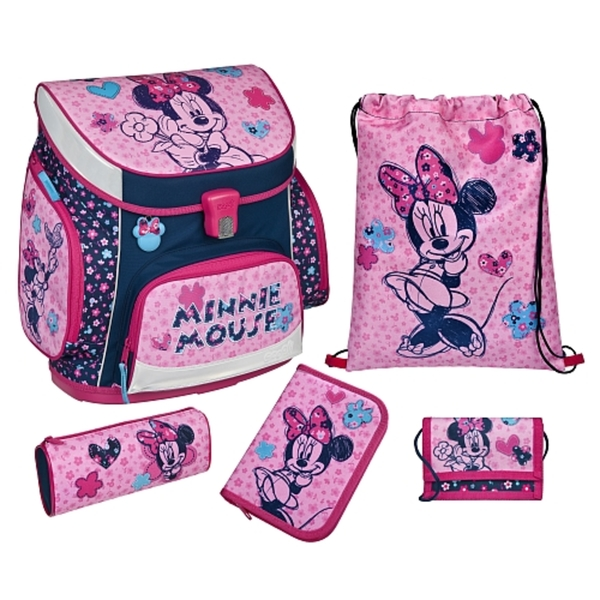 Scooli - Minnie Mouse: Campus Up Ranzenset, 5-tlg.