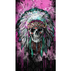 Lethal Angel Feathers Skull Multituch