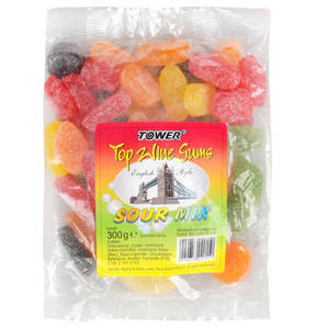 Tower             Top Wine Gums Sour Mix, English Style, 300g                  (3 Stück)