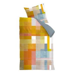 Bettwäsche Architecture - Baumwollstoff - Mehrfarbig - 155 x 220 cm + Kissen 80 x 80 cm, OILILY
