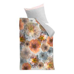 Bettwäsche Marigold - Baumwollstoff - Mehrfarbig - 155 x 220 cm + Kissen 80 x 80 cm, OILILY