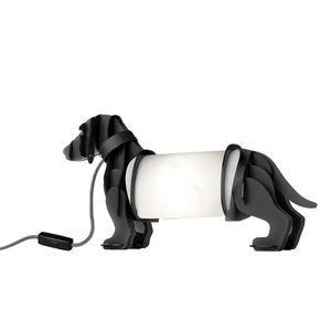 EEK A++, Tischleuchte Eldog - Kunststoff - Grau, Sompex
