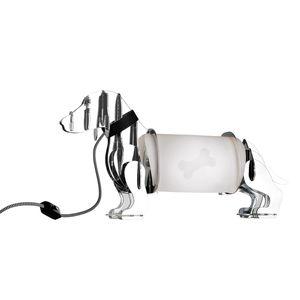 EEK A++, Tischleuchte Eldog - Kunststoff - Chrom, Sompex