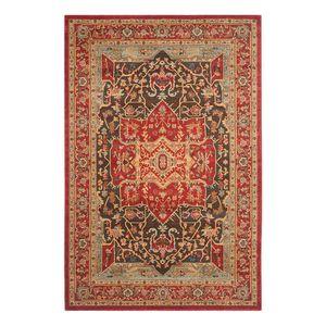 Teppich Alberto - Rot / Beige - 154 x 231 cm, Safavieh