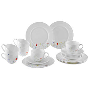 NOVEL Bone China KAFFEESERVICE 18-teilig, Mehrfarbig