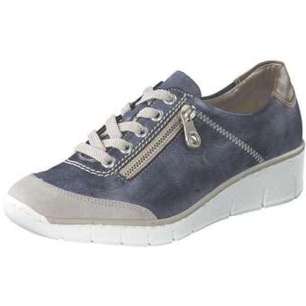 Rieker Schnürschuh Damen blau
