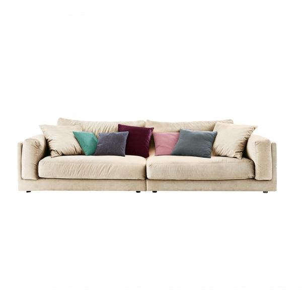 Ole Gunderson Big-Sofa LASSE Stoffbezug Pearl ca. 290 x 85 x 107 cm
