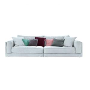 Ole Gunderson Big-Sofa Stoffbezug Hellblau ca. 290 x 85 x 107 cm