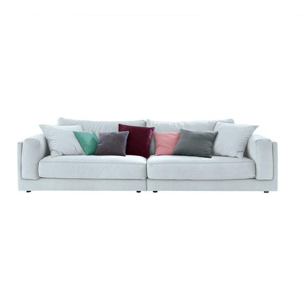 Ole Gunderson Big Sofa Stoffbezug Hellblau Ca 290 X 85 X 107 Cm Von