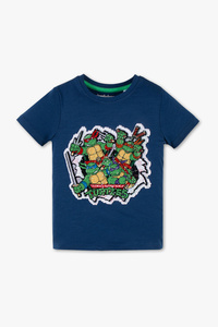 Ninja Turtles - Kurzarmshirt - Bio-Baumwolle - Glanz Effekt