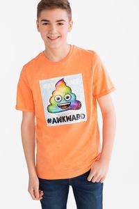 Here and There         Emoji - Kurzarmshirt