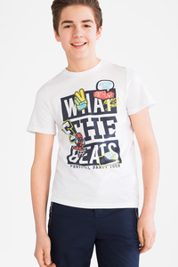 Here and There         Kurzarmshirt - Bio-Baumwolle - 2er Pack