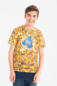 Here and There         Emoji - Kurzarmshirt - Glanz Effekt