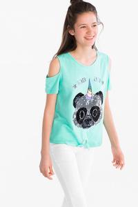 Emoji - Kurzarmshirt - Bio-Baumwolle - Glanz Effekt