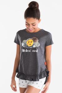 Emoji - Kurzarmshirt - Glanz Effekt